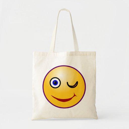 Smilie guiño smiley twinkle bolsa tela barata
