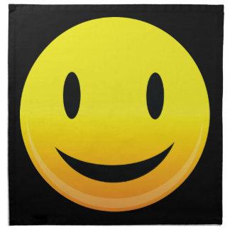 Smilie hace frente a feliz servilletas imprimidas