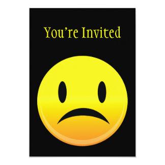 Smilie hace frente a triste invitación 12,7 x 17,8 cm