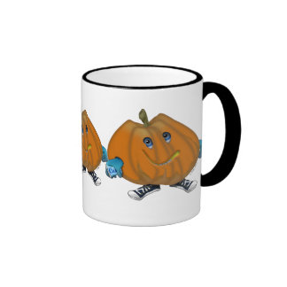 Smilie in His Halloween Costume Ringer Coffee Mug