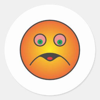 smilie nausea nausea round stickers