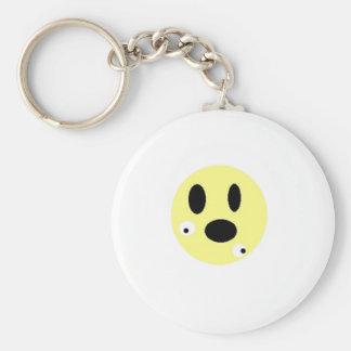 smilie no eyes design keychain