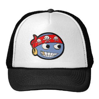 smilie pirate trucker hat
