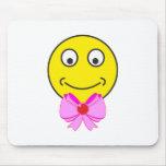 Smilie Schleife smiley bow Mousepad