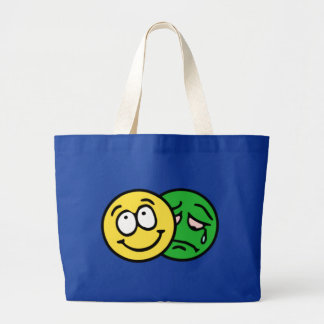 Smilie smiley theatre comedy tragedy tote bag