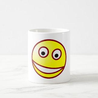 Smilie sonrisa afectada smiley grin taza clásica