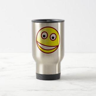 Smilie sonrisa afectada smiley grin taza térmica