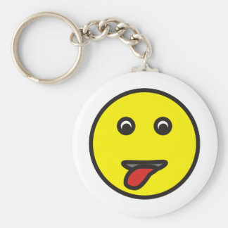 smilie stuck out tongue sticking tongue out keychain