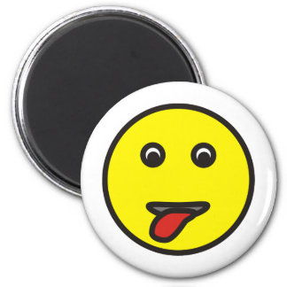 smilie stuck out tongue sticking tongue out 2 inch round magnet