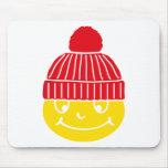 Smilie with cap mauspads