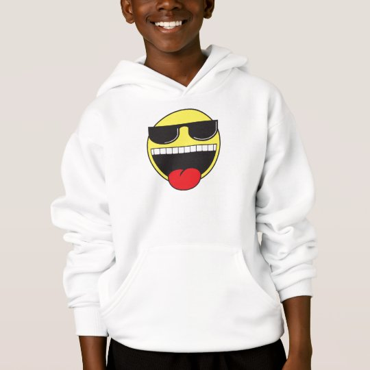Smilie with Sunglasses Hoodie