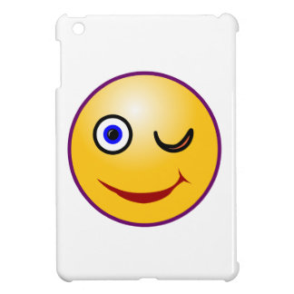 Smilie Zwinkern smiley twinkle iPad Mini Cover