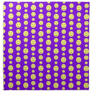 Smilies amarillo en púrpura servilletas de papel