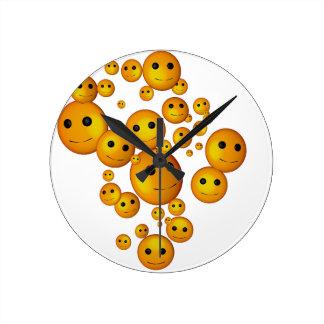 smilies round clock