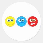 Smilies Round Stickers