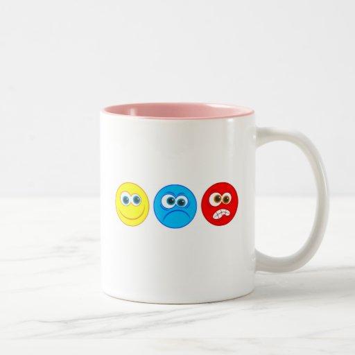 Smilies Two-Tone Coffee Mug