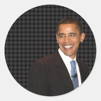 Smilin' Barack Obama Classic Round Sticker