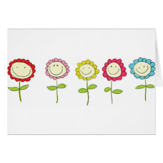 Smilin' Flowers Cards