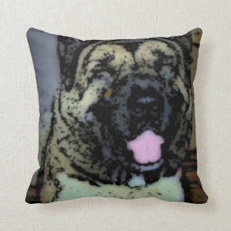 Smiling Akita Throw Pillow