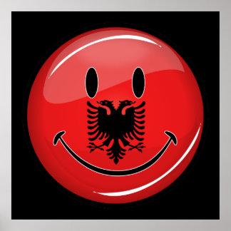 Smiling Albanian Flag Poster