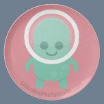 Smiling Alien Dinner Plate