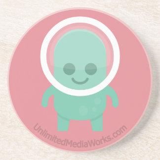 Smiling Alien Drink Coaster