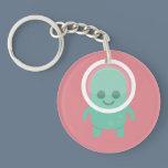 Smiling Alien Keychain