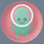 Smiling Alien Plate