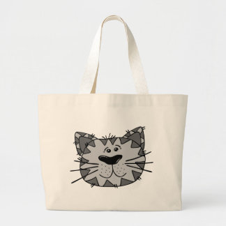 Smiling Alley Cat Large Tote Bag