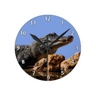 Smiling Alligator Customizable Round Clock