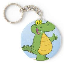 Smiling Alligator Or Crocodile Keychain