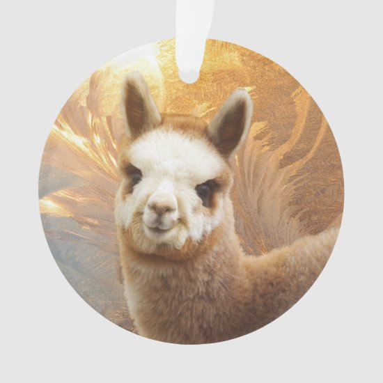 Smiling Alpaca Christmas Ornaments