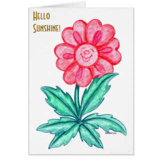 Smiling and thinking of you. card
