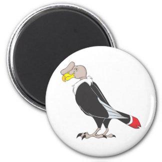 Smiling Andean Condor Bird 2 Inch Round Magnet