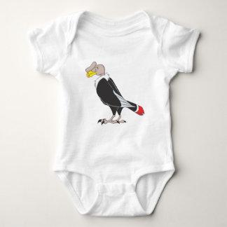 Smiling Andean Condor Bird Baby Bodysuit