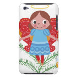 Smiling angel with halo and butterfly wings, iPod touch Case-Mate case
