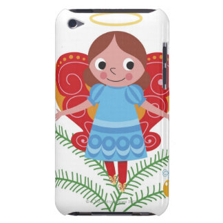 Smiling angel with halo and butterfly wings, iPod Case-Mate case