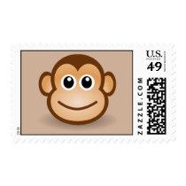 Smiling animated Monkey Postage