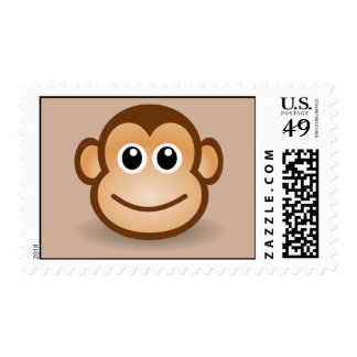 Smiling animated Monkey Postage Stamps