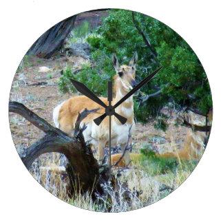 Smiling Antelope Large Clock
