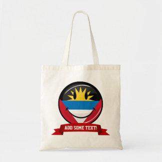 Smiling Antigua and Barbuda Flag Tote Bag