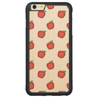 Smiling Apples Carved Maple iPhone 6 Plus Bumper Case