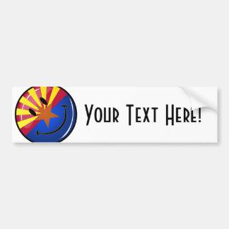 Smiling Arizona Flag Car Bumper Sticker