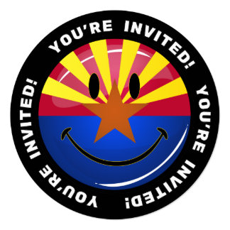Smiling Arizona Flag Card