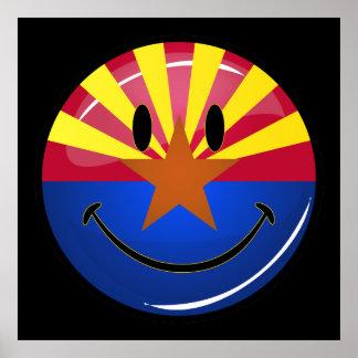 Smiling Arizona Flag Poster