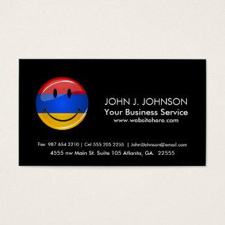 Smiling Armenian Flag Business Card