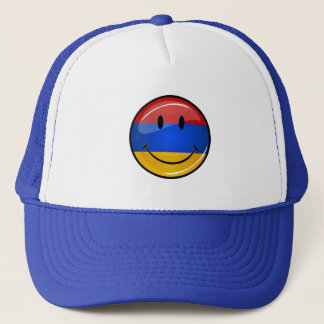 Smiling Armenian Flag Trucker Hat