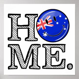 Smiling Australian Flag Housewarming Poster