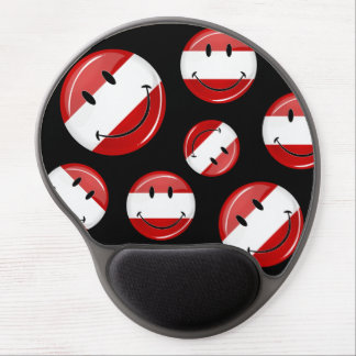 Smiling Austrian Flag Gel Mouse Pad