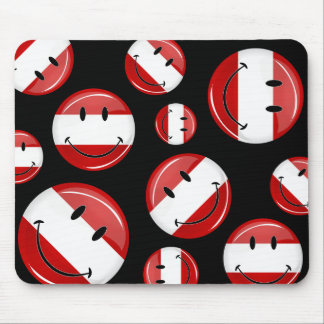 Smiling Austrian Flag Mouse Pad